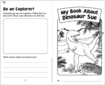 My Book About Dinosaur Sue - Printable Worksheet