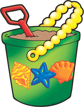 Sand Pail and Shovel - Image Clip Art