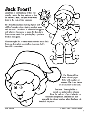 Jack Frost: Pattern and Craft Activity - Printable Worksheet