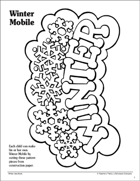 Winter Mobile: Pattern and Craft Activity - Printable Worksheet
