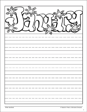 January: Stationery - Printable Worksheet