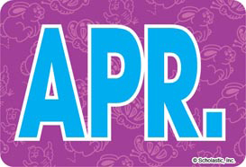 April (Abbreviated) - Image Clip Art