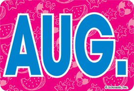 August (Abbreviated) - Image Clip Art