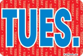 Tuesday (Abbreviated) - Image Clip Art