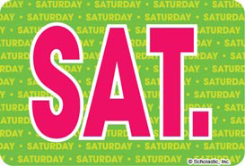 Saturday (Abbreviated) - Image Clip Art