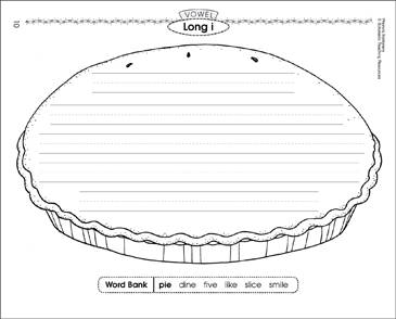 Long i Vowel (pie): Phonics Stationery - Printable Worksheet