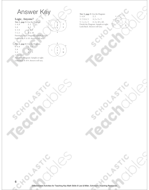 Logic anyone venn diagram tiered math practice printable see inside image ccuart Image collections