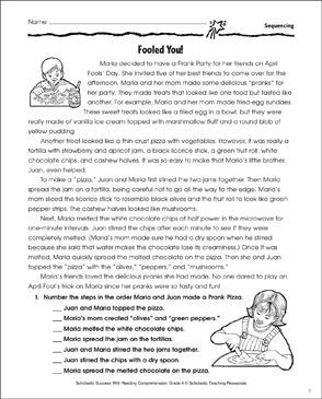 Fooled You! (Sequence of Events) - Printable Worksheet