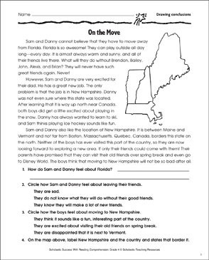On the Move (Drawing Conclusions) - Printable Worksheet