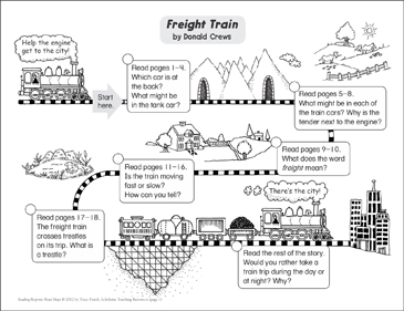 Freight Train: Reading Response Map - Printable Worksheet