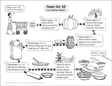 Feast for 10: Reading Response Map - Printable Worksheet