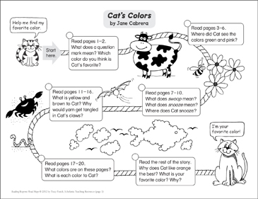 Cat's Colors: Reading Response Map - Printable Worksheet
