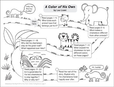 A Color of His Own: Reading Response Map - Printable Worksheet