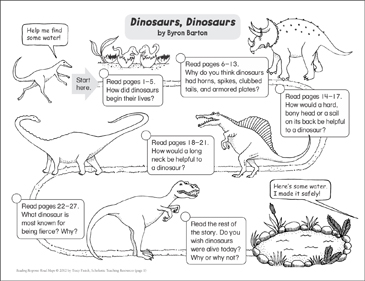 dinosaurs dinosaurs reading response map printable book reports and research reports. Black Bedroom Furniture Sets. Home Design Ideas
