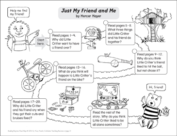 Just My Friend and Me: Reading Response Map - Printable Worksheet