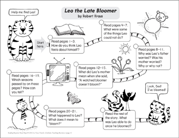Leo the Late Bloomer: Reading Response Map - Printable Worksheet