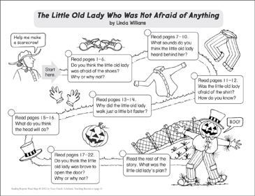 The Little Old Lady...: Reading Response Map - Printable Worksheet