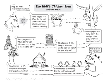 The Wolf's Chicken Stew: Reading Response Map - Printable Worksheet
