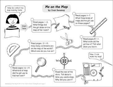 Me on the Map: Reading Response Map - Printable Worksheet
