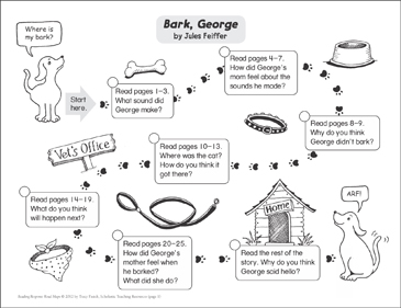 Bark, George: Reading Response Map - Printable Worksheet