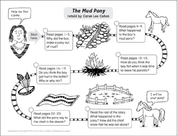 The Mud Pony: Reading Response Map | Printable Book Reports ...