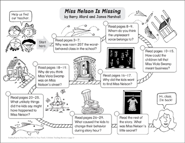 Miss Nelson Is Missing: Reading Response Map - Printable Worksheet