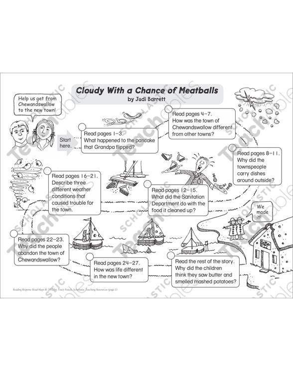 Cloudy With A Chance Of Meatballs Reading Response Map Printable