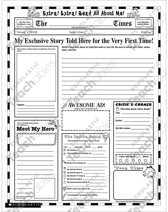 all about me graphic organizer scholastic pdf