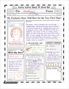 photograph relating to All About Me Poster Printable referred to as Go through All Concerning Me Fill-within just Poster (Grades 3+) Printable