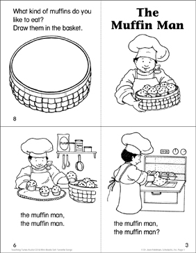 The Muffin Man - Printable Worksheet