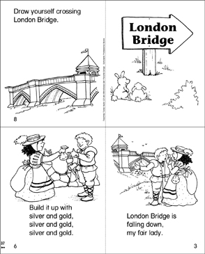 London Bridge Mini-Book - Printable Worksheet