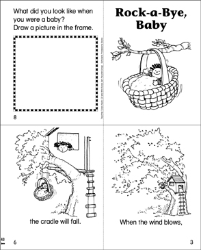 Rock-a-Bye, Baby Mini-Book - Printable Worksheet