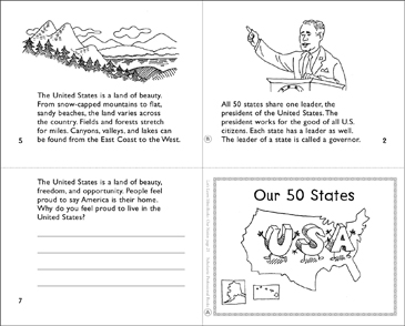 Our 50 States - Printable Worksheet