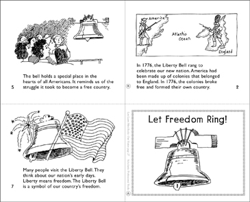 Let Freedom Ring! Mini-Book - Printable Worksheet
