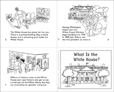 What Is the White House? Mini-Book - Printable Worksheet