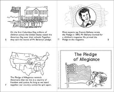 The Pledge of Allegiance Mini-Book - Printable Worksheet