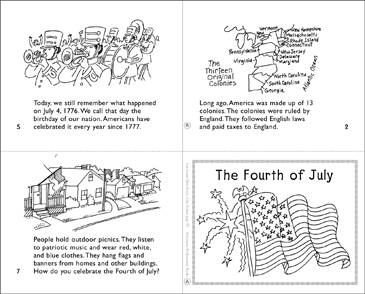 The Fourth of July - Printable Worksheet