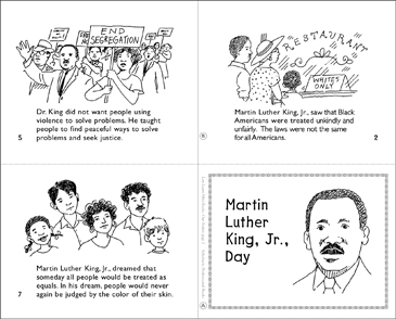Martin Luther King, Jr.,Day Mini-Book - Printable Worksheet