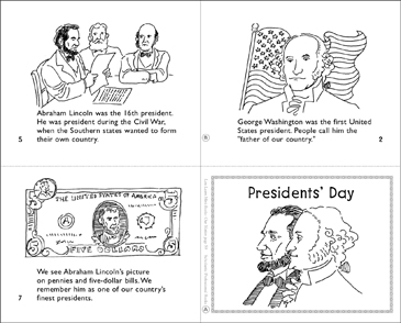 graphic regarding Printable Pictures of Presidents titled Presidents Working day Printable Mini-Textbooks