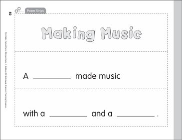 File-Folder Pocket Chart: Phonics Poems - Long u - Printable Worksheet