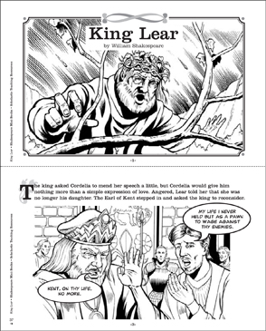 Shakespeare Comics: King Lear - Printable Worksheet
