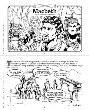 Shakespeare Comics: Macbeth - Printable Worksheet