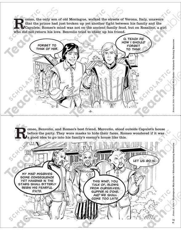 Shakespeare Comics: Romeo & Juliet | Printable Mini-Books