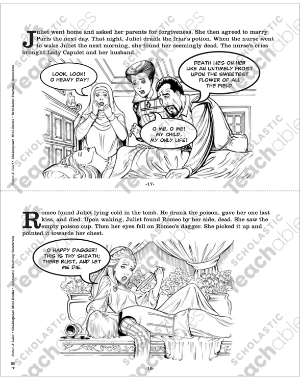 Shakespeare Comics: Romeo & Juliet | Printable Mini-Books