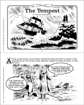 Shakespeare Comics: The Tempest - Printable Worksheet