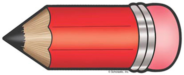 Red Pencil - Image Clip Art
