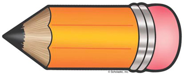 Yellow-Orange Pencil - Image Clip Art