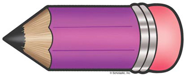 Purple Pencil - Image Clip Art