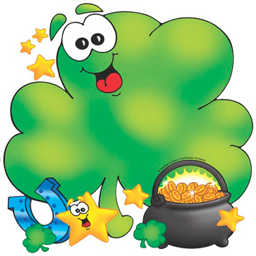 Shamrock and Pot of Gold - Image Clip Art