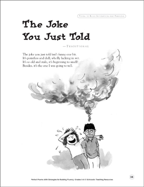 The Joke You Just Told: Fluency-Building Poem - Printable Worksheet